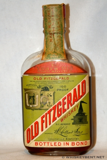 Old Fitzgerald Whiskey 1/2 Pint