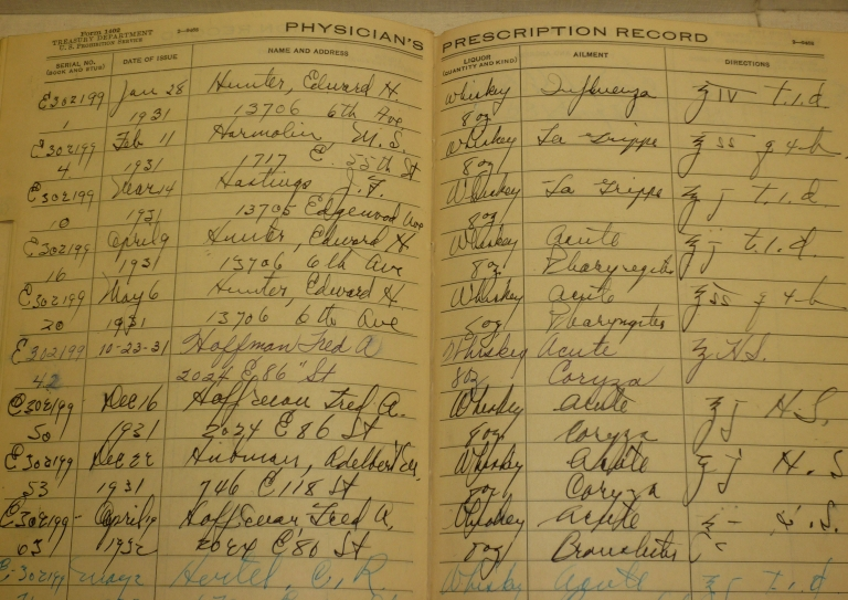 Prescription book of Dr. Dykes, 1928