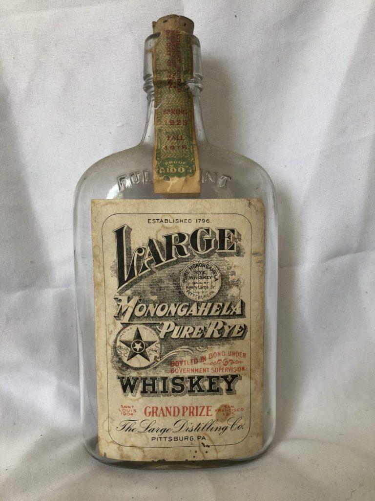 Large Monongahela Rye Whiskey