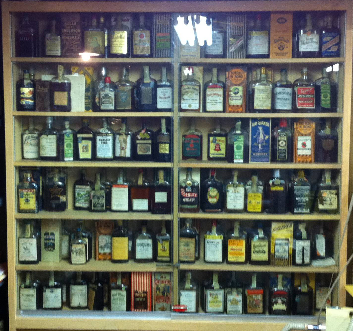 prohibition-whiskey-bottle-collection